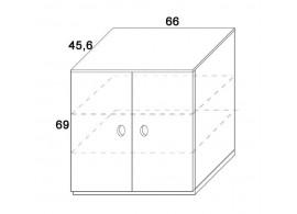 Skříň 2-dvířková D412/BC-Domino, masiv buk