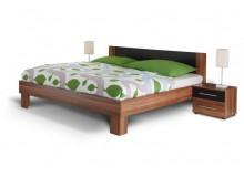 Manželská postel - dvojlůžko s nočními stolky MARTINA 180x200, ořech-černá