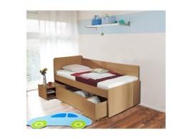 Zvýšená postel s úložným prostorem OTO 90x200, lamino buk