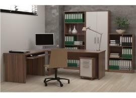 Kancelářská sestava JOHAN, švestka-bílá