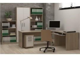 Kancelářská sestava JOHAN, dub sonoma-bílá