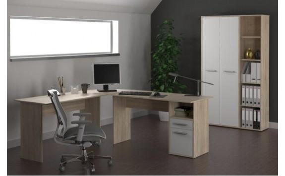 Kancelářská sestava MAURUS 1., dub sonoma-bílá