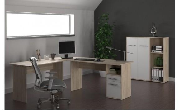 Kancelářská sestava MAURUS 3., dub sonoma-bílá