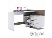 Psací PC stůl TALE, dub-bílá