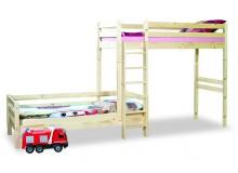 Poschoďová postel posuvná KALIMERO-001, masiv smrk