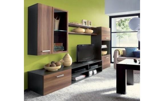 Moderní obývací stěna FARGO, wenge-švestka