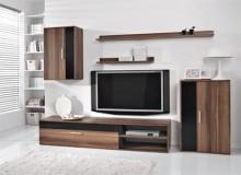 Moderní obývací stěna BARATO, švestka-černá