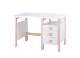 Psací stůl Henry I. G0208W, masiv buk/lamino - bílá