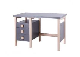Psací stůl Henry I. G0208S, masiv buk/lamino - šedá