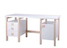 Psací stůl Henry II. G0209W, masiv buk/lamino - bílá