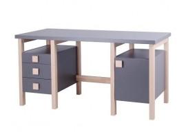 Psací stůl Henry II. G0209S, masiv buk/lamino - bílá