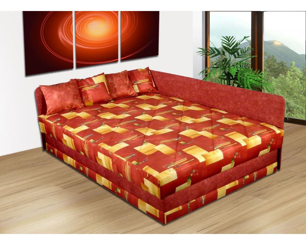 Čalouněná postel s úložným prostorem BOB, 120x200 pružina