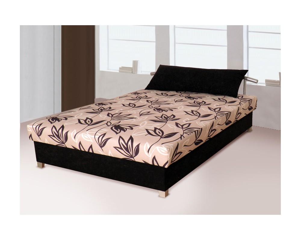 Zvýšená čalouněná postel s úložným prostorem ZLATKA, 160x200 béžová