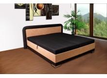 Zvýšená čalouněná postel s úložným prostorem JAREK, 180x200 béžová - 1 ks skladem !!!