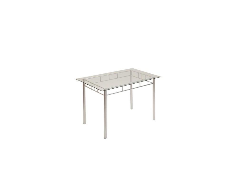 Skleněný jídelní stůl IA3060, 110x70, kombinace kov-sklo