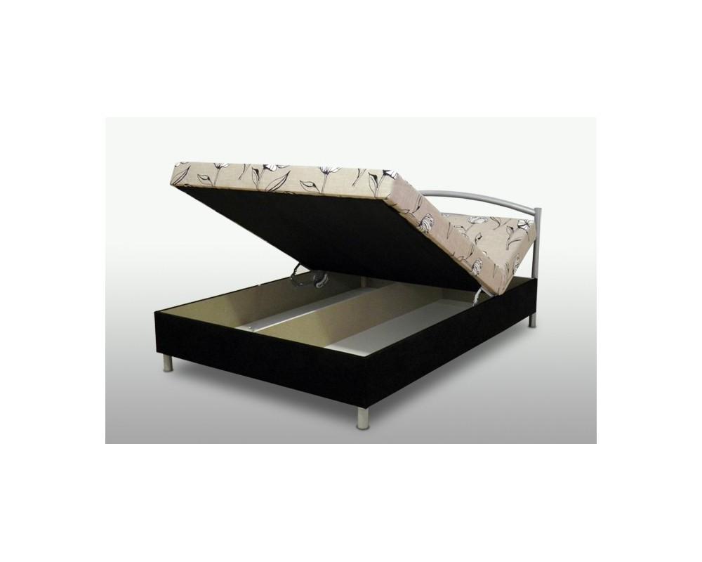 Zvýšená čalouněná postel s úložným prostorem ANDREA, 140x200 polohovací