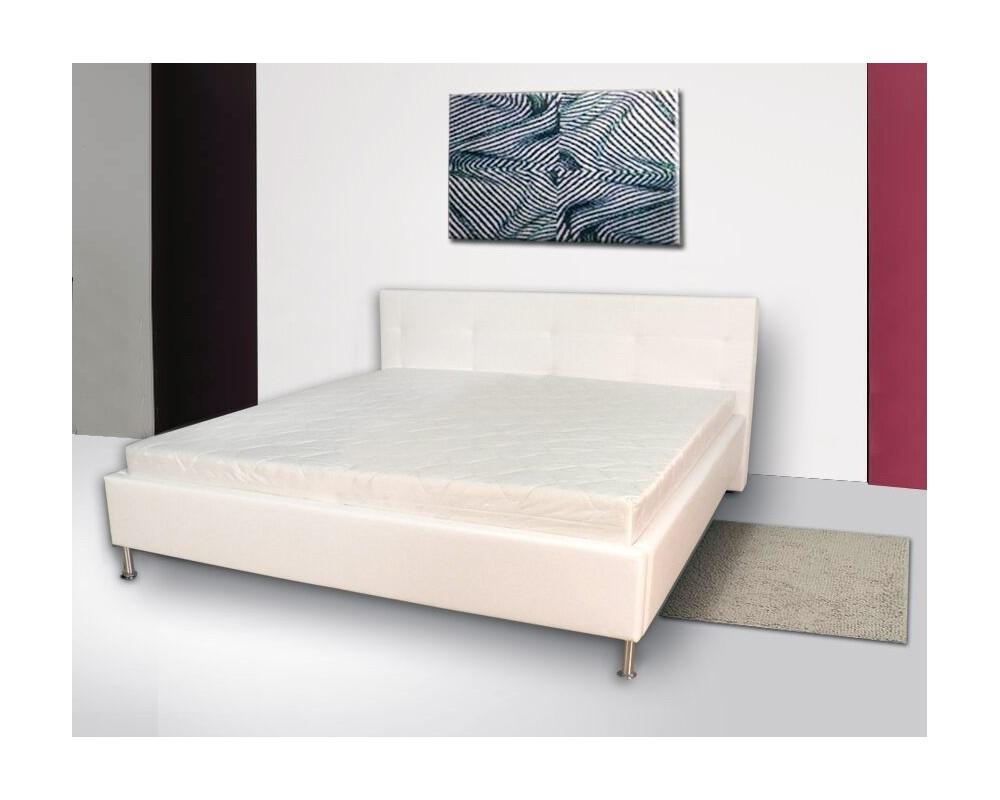 Čalouněná postel 160x200,180x200 BOSS, bílá, černá, hnědá, šedá