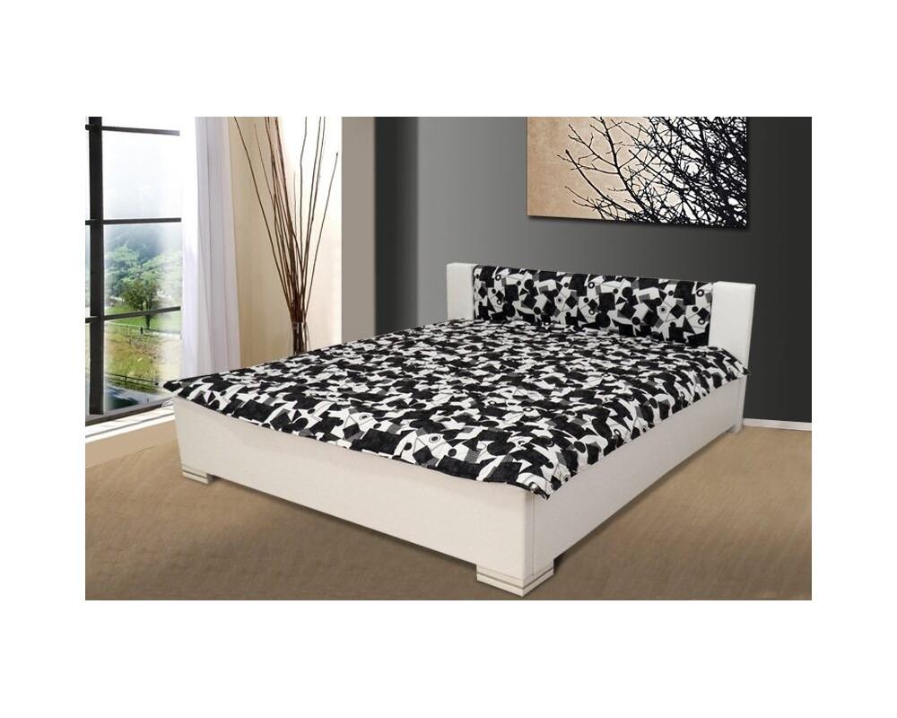 Čalouněná postel 180x200 FINLEY, bílá