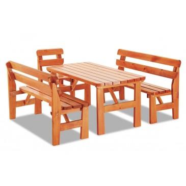 Zahradní sestava - stůl, lavice, židle LAND, masiv borovice