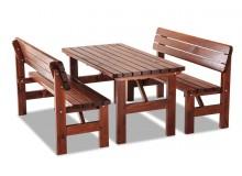 Zahradní sestava - stůl a lavice LORKA, masiv borovice