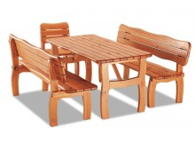 Zahradní sestava - stůl, lavice, židle TROL, masiv borovice