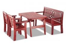 Zahradní sestava - stůl, lavice, židle BRUNO, masiv dub
