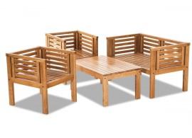 Zahradní sestava - stůl, lavice, židle MALI , masiv dub