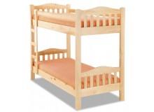 Patrová postel pro 2 děti 90x200 OLA, masiv smrk