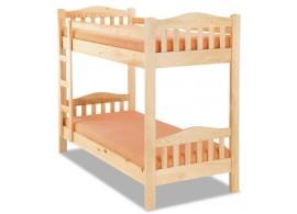 Patrová postel pro 2 děti 90x200 OLA, masiv borovice