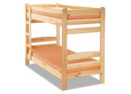 Patrová postel pro 2 děti 90x200 RADA, masiv smrk