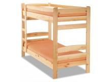 Patrová postel pro 2 děti 90x200 RADA, masiv borovice