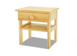 Noční stolek 1 zásuvkový K-masiv, smrk, borovice