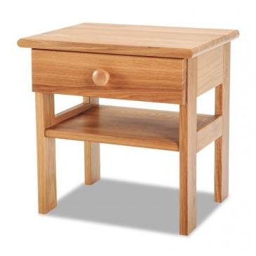 Noční stolek 1 zásuvkový K-masiv, dub