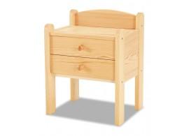 Noční stolek 2 zásuvkový K-masiv, smrk, borovice