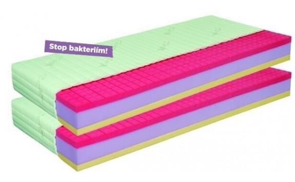 Antibakteriální matrace 1+1 zdarma ANTIBACTERIAL VISCO VAKUO 18 cm