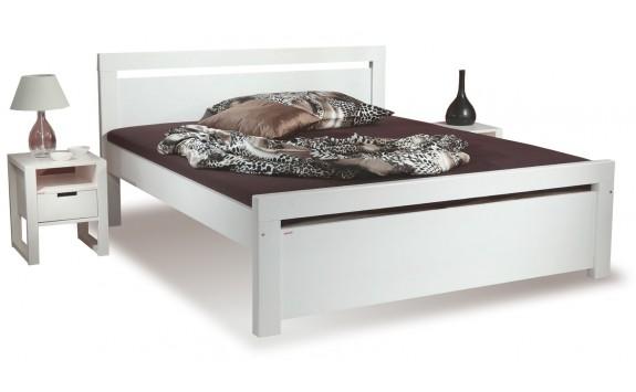 Zvýšená postel z masivu RHINO II. senior A0548B 160x200, smrk - bílá