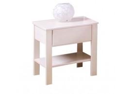 Noční stolek - VALENCIA senior č.202/B masivní buk - bílá