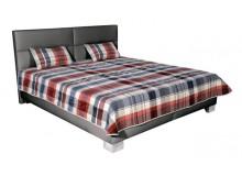 Čalouněná postel, dvoulůžko JERSEY 180x200, šedá