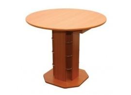 Rozkládací jídelní stůl Tadeáš - kulatý, lamino, 90 cm