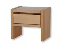 Noční stolek se zásuvkou MAXIM plus, masiv jádrový buk