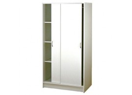 Šatní skříň s posuvnými dveřmi IA5223B - lamino bílá