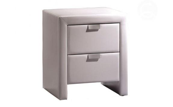 Moderní čalouněný noční stolek TERANO, bílý