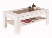 Moderní konferenční stolek KLÁRA 110x60, bílá