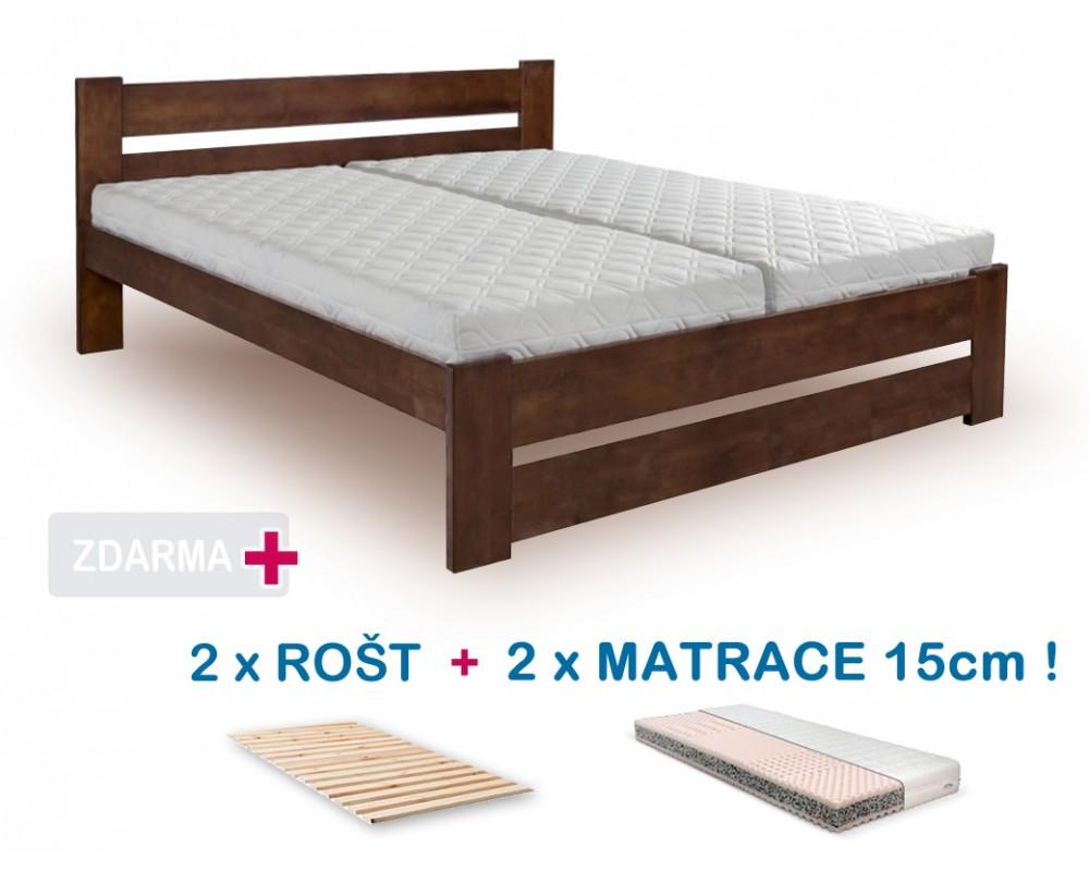 ace1a41eeb1b Manželská postel HANA NEW s roštem a matrací ZDARMA 180x200