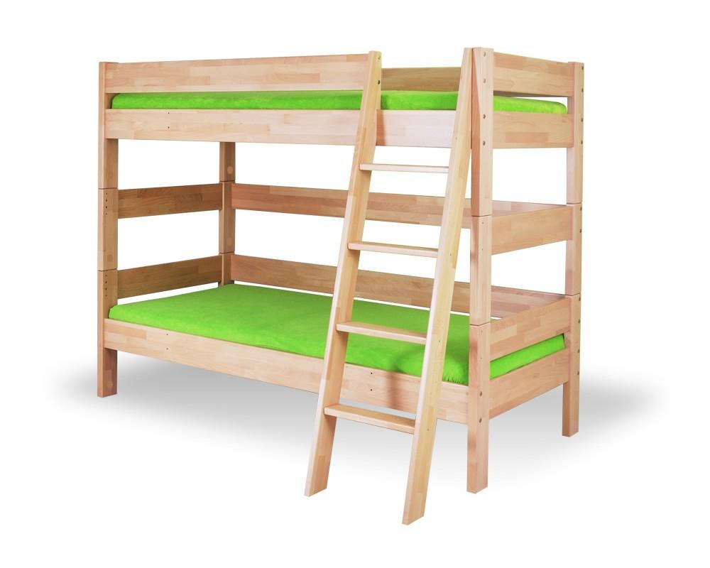 Dětská poschoďová postel - palanda MAX 258/BC nízká, masiv buk