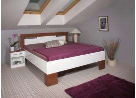 Manželská postel z masivu VAREZZA 5 senior 160x200, 180x200, masiv buk, ořech-bílá