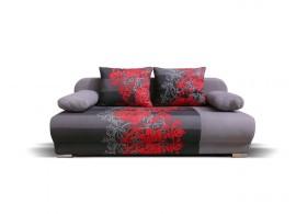 Rozkládací pohovka s úložným prostorem FUTON, šedá - pro dvě osoby, 198 cm
