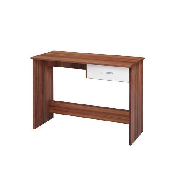 Psací PC stůl IA60042, bílá-ořech