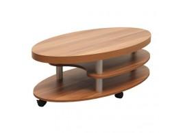 Konferenční stolek oválný 110x60 - KR123, lamino