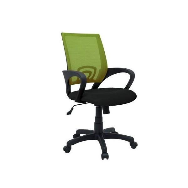 Kancelářská židle s područkami IAK90, černá-zelená